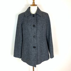 London Fog | Wool Blend Gray Peacoat Size Large